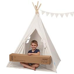 Canicove Teepee Tent for Kids - Award Winning 100% Cotton Pl