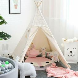 Teepee Tent cotton canvas Playhouse Toys for kids Indoor/Out