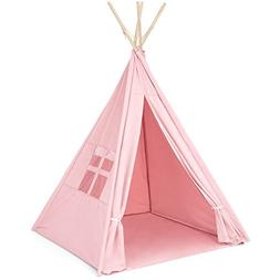 Best Choice Products 6ft Kids Cotton Canvas Teepee Playhouse
