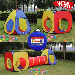 Three in one Play Tent Kids Play House Indoor Outdoor Easy F