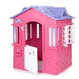 Pink Princess Cottage Play House Toddler In Out Door Kid Yar
