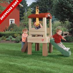 Toddler Indoor/Outdoor Playground Set Climber And Slide Back