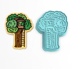Tree House Cookie Cutter & Stamp | Fort Trees Playhouse Natu