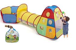 Utex Kids Pop up Play Tent with Tunnel and Ball Pit for Indo
