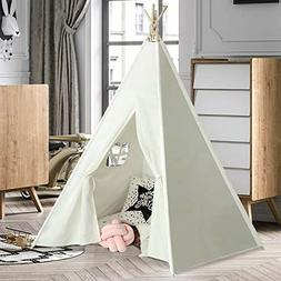 UKadou white Teepee Tent for Boys girls Baby Toddlers Play H