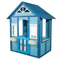 easy assembly outdoor wooden playhouse backyard sportspower