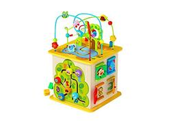 Toysters Wooden Activity Cube for Toddlers | Multi-Purpose K