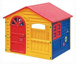 Yellow Outdoor Playhouse Multi-Color Kids Play House Home Ya
